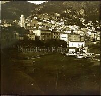 FRANCE Villefranche-sur-Mer c1900, Photo Stereo Grande Plaque Verre VR9L7n7