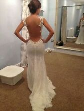Mermaid Lace New Backless Wedding Dress Bridal Gown Custom 2-16++ xh5
