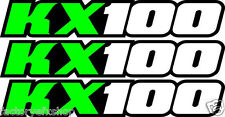 KX100 Swingarm Airbox Number Plate Decals Stickers kx 100 dirtbike graphics