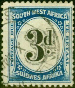 South West Africa 1931 3d Black & Blue SGD50 Fine Used