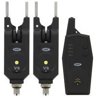 Funk Bissanzeiger elektronisch 2+1 Set inkl Snag Ears Bitealarm Karpfen Carp LED