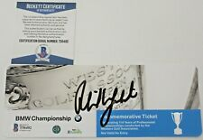 Phil Mickelson Signed 2017 BMW Championship Ticket w/Beckett COA Conway Farms