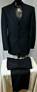 Size 104 NR BOSTON 2 button mens Leigh Paul wool suit black check office