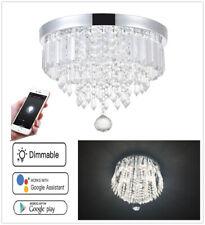 Smart Home APP LED Modern Crystal Ball Chandelier Pendant Ceiling Light Fixtures