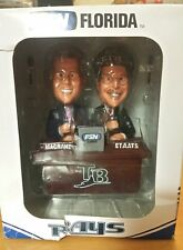 TALKING TAMPA BAY RAYS FSN MAGRANE AND STAATS BOBBLE HEAD