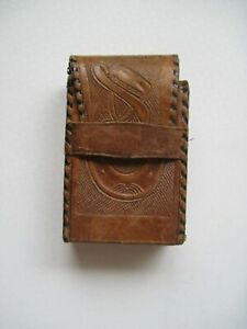 Vintage Leather Playing Card Case