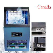 110Lbs Electric Commercial Ice Cube Maker Machine Stainless Steel Bar 110V CA US