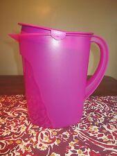 Tupperware Impressions  1 G - Gallon 3.75 L  Pitcher Rhubarb Radish Purple Pink