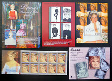 LIBERIA Wholesale Diana Princess of Wales 9 Different M/Sheets 10 of Each FP3699