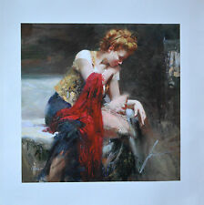 "Pino Daeni ""ANTICIPATION"" Giclee on Canvas #1/500.  Signed and Numbered + COA!"