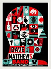 Dave Matthews Band Poster 2012 Hollywood Bowl Signed & Numbered  #/900 Rare!!!
