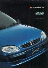 Citroen Saxo 1.1 Forte Limited Edition 2000 UK Market Sales Brochure