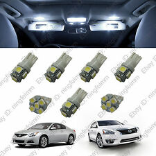 7x White LED lights bulbs interior package kit for Nissan Altima 2013 &up W##52#