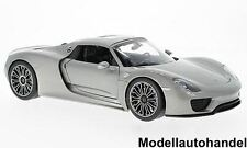 PORSCHE 918 SPYDER HARD TOP 2011-ARGENTO - 1:18 Welly novità