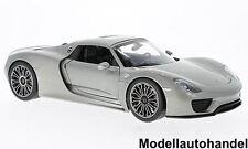Porsche 918 Spyder Hard Top 2011 - silber -  1:18 Welly  NEUHEIT