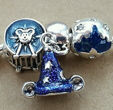 Disney Parks Mickey Sorcerer Hat Blue Castle Ferris Wheel European Beads Charms