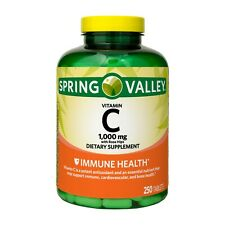 Vitamina C 500mg 250 Tabletas Spring Valley Ayuda Sistema Inmunologico