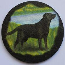 Black Labrador -  Dog - Coaster - Welsh Slate