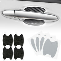 4Pcs Carbon Fiber Car Door Handle Stickers Film Covers Protector Anti-Scratch