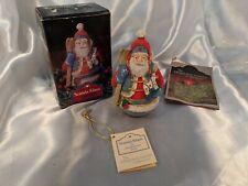 Roly Poly Scanda Santa Claus Midwest Importers Resin Scandanavian Vintage w Box