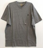 Polo Ralph Lauren Big Tall Mens Size LT Grey Heather V-Neck T-Shirt NWT Size LT