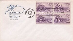 50th Anniversary State of Kentucky First Day Cover Stamped Envelope June 1 1942