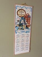 Vtg 1989 Happiness is Homemade wall hanging 12 months Calender