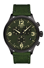 new authentic TISSOT CHRONO XL green dial  band men's watch T116.617.37.097.00