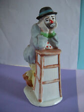 """Emmett Kelly Jr. Collection By Flambro Hobo Clown """"Why Me?"""""""