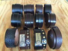 Punk Cool Men Womens Wide Genuine Leather Belt Bracelet Cuff Wristband Bangle