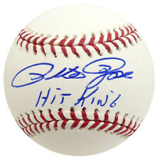 """PETE ROSE AUTOGRAPHED SIGNED MLB BASEBALL REDS """"HIT KING"""" BECKETT BAS 159191"""