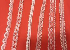 WHITE LACE TRIM RIBBON Frilly vintage TRIMMING BRIDAL WEDDING antique lacy