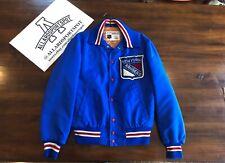 Vintage New York Rangers By Shain of Canada Mens Satin Jacket NHL Hockey coat