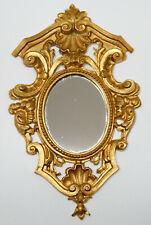 Vintage Ornate Ormolu Mirror Dollhouse Miniature 1:12