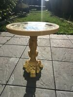 Antique Oriental wine side  lamp table carved stone