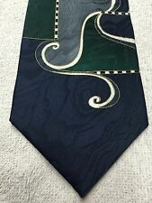 EQUIREMENTS MENS TIE BLUE GREEN GRAY 4 X 58