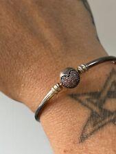 Genuine Pandora Sparkle Heart bangle 17 cm