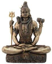 8.5 Inch Shiva in Lotus Pose Sculpture Statue Hindu Deity Hinduism God Decor