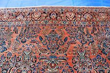 Antique Sarouk Rug Original Color 9x12 #590