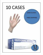 Vinyl Disposable(FOOD SERVICE) MEDIUM 10 CASES-10000 GLOVES FREE SHIPPING
