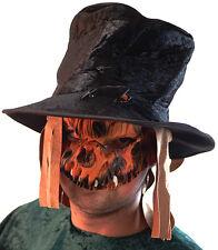 HALLOWEEN/Evil/Creepy/Fancy Dress/ SCARECROW MASK, HAT & WEAPON SET