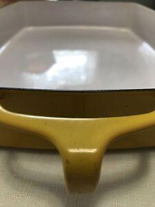Kobenstyle Dansk Baking Dish Yellow France Enamel Lined Metal 13 x 10 Casserole