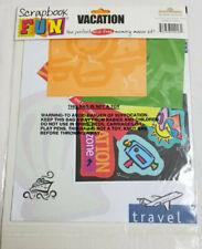 Scrapbook Fun Page Kit VACATION Acid Free Memory Maker Bright Colors