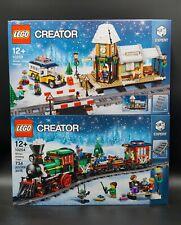 LEGO Creator Expert Weihnachtszug + Winterlicher Bahnhof (10254, 10259) NEU/OVP
