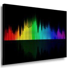 Equalizer Musik Leinwandbild AK Art Bilder Mehrfarbig Wandbild Kunstdruck XXL