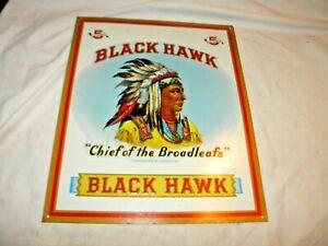 "Blackhawk ""Chief Of The Broadleafs"" Cigar Decorative Metal Tin Sign"