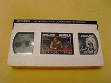 RAMBO II RARE VHS (Cassette Blanche !) 1ère édition video-club ! Stallone