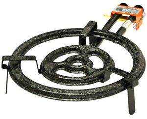 40cm Premium Paella Pan Three Ring Gas Burner (Outdoor) For 34 - 65cm Paella Pan
