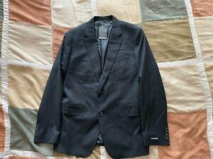 Bonobos jetsetter navy wool stretch sport coat blazer 42 R slim fit mens NEW