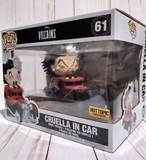 Funko Pop! Rides - Disney Villains Cruella In Car Vinyl Figure Hot Topic Ex